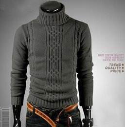 Wholesale Men s lapel long sleeved high necked sweater pullover exports classic Mens pullover hot sale mens cardigan luxury sweater