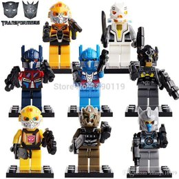 Wholesale Transformation Minifigures Building Blocks Leader Class Optimus Prime Bumblebee Decepticon Autobot