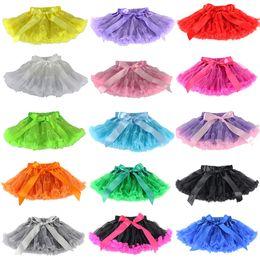 Faldas para las muchachas de los niños en Línea-faldas altas de los niños de Navidad Calidad muchachas de la falda del tutú de los niños de la mariposa de la colmena Pettiskirt infantil Mini falda de la princesa faldas de colores 15