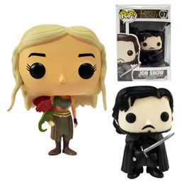 Wholesale DHL Ship Funko POP Game of Thrones Daenerys Targaryen Action Figure Jon Snow cm GOT Character Doll