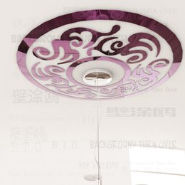 Wholesale DIY traditional Chinese circle eaves tiles phoenix patterns ceiling stickers vintage wall mirror lounge living room RMYK