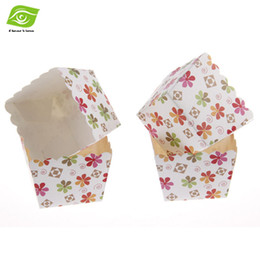 Wholesale Square Paper Baking Liners - 100pcs Pack Square Paper Cupcake Cup Heat Resistant Paper Cupcake Liners Baking Cake Muffin Cups