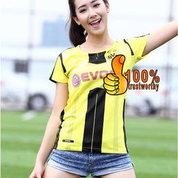 2017 Nouvelle Arrivée Dortmund Accueil Jaune Football Jersey Femmes 2016 Femme Fille shirt Reus Aubameyang Guerreiro Thai Soccer Jersey Qualité new jersey woman deals à partir de nouvelle femme jersey fournisseurs