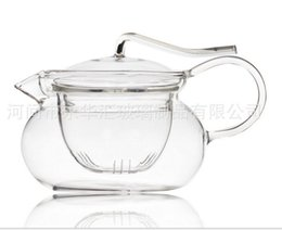Wholesale New ml Glass Tea Pot With Tea Strainer and Lid For Making Flower Tea And Coffee Heat Resisting Tea Pot