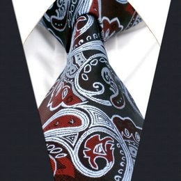 A26 Burgundy Silver Floral Mens Ties Necktie for male Handmade Jacquard Woven Silk Wedding Fashion Classic