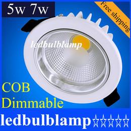 CREE COB Led Downlights 5W 7W 110V 220V dimmable LED Ceiling Downlight Lamps Led Ceiling Lamp Home Indoor Lighting 120 angle AC110-240V