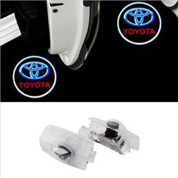 LED Car door Courtesy laser projector LED Logo Ghost Shadow light For TOYOTA Reiz Crown Prius Reiz Camry HighLander Corolla