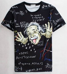 tshirt Math science T-shirt for boy girl Graphic 3d t shirt men women funny print Einstein t-shirt casual tops 1860