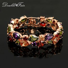 Luxurious Crystals 18K Champagne Gold Plated Imitation Crystal Charms Bracelets Jewelry Trinket For Women Christmas Gifts Crystal DFH003