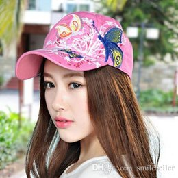 Wholesale Summer Hat Embroidered Baseball Cap Women Lady Fashion Shopping Cycling Visor Sun Hat Caps Travel Adjustable Snapback YH0240