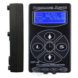 Wholesale Hurricane HP Black Tattoo Power Supply Digital LCD Display For Tattoo Machine Clip Cord Tattoo Kit Free Ship