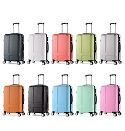Wholesale 26 quot Frosted ABS Hardside Luggages solid trolley travel bags case suitcase universal wheel travel rolling luggage