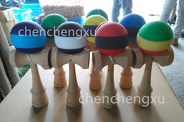 Kendama Ball Wood Game Toy Education Gift Kendama Striped Wooden Technique Japanese Traditional Kids Girls Boys Children Stripe Toys Sports
