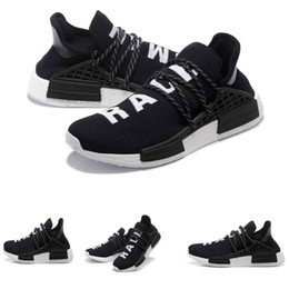 Wholesale Only Today Big Discount Cheap Shoes NMD HumanRace People Racing Shoes HumanRace Yellow Black SHOES NMD Shoe Williams Pharrell EUR36
