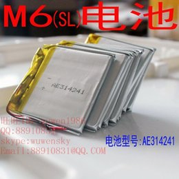 Wholesale MINI play M6 sl TL edition dedicated MP3 battery Original Size lithium polymer battery For GPS Mobile Computer Parts