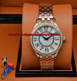 Luxurious business fashion classic fine durable import quartz crystal rose gold case waterproof strip Beautiful Ladies Watch
