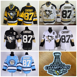 Wholesale 2016 Stanley Cup Champions Jerseys Sidney Crosby CCM Pittsburgh Penguins ICE Hockey Men s Throwback JerseY Stitched Authentic