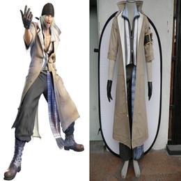 Popular Role Cosplay Final Fantasy XIII 13 Snow Villiers Cosplay Costume Men's Long Coat Full Set