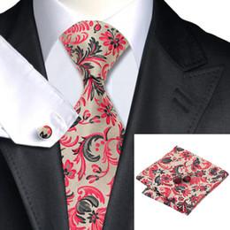 Fomal Yellow Red Grey Tie Men's Classic Silk Necktie Cufflinks Hanky Jaquard Woven New Arrival Business Tie N-1178