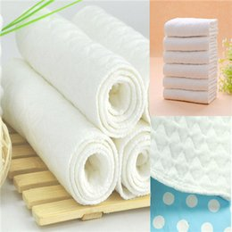 Bébé tissu réutilisable couche nappy en Ligne-10 PCS Nouveau bébé réutilisable moderne couches de couches couchette de couches 3 couches de coton