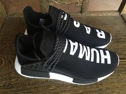Wholesale Supply New pattern Pharrell NMD Human Race Runner Sports Running Shoes Nmd Human Race Knit Upper Sneakers Shipped With Box