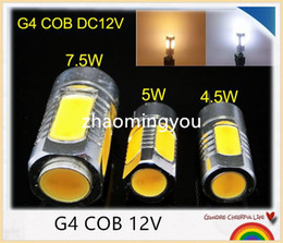 YON 10PCS G4 4.5W 5W 7.5W 12V COB LED SpotLight Bulb High bright LED Lamp Warm White,White Lamp