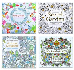 Wholesale 2016 Secret Garden Coloring Book Painting Drawing Book theme Pages Animal Kingdom Relieve Stress For Children Adult Christmas Gifts