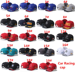 Wholesale Fashion Designer Motor Racing Baseball Caps Hats Supply For Adults Mens Womens Sport Adjustable Brands Hats Party Gorras Gift