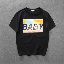 Wholesale summer of and the tide brand GD with baby printing T shirt with a loose cotton couples dress for men and women