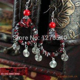 Femmes tibétain bijoux fashion handmade tissu ethnique boucles d'oreilles en bois, la nouvelle thaïlande dangle vintage broche boucles d'oreilles boucles d'oreilles bracelet à partir de bracelets en bois faits à la main fournisseurs