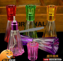 Wholesale Colored glass vase alcohol lamp glass hookah smoking pipe Glass gongs oil rigs glass bongs glass hookah smoking pipe vap vaporizer