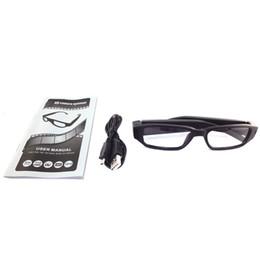 Descuento micro cámara espía oculto 5pcs / lot HD 720P gafas espía cámara oculta Gafas micro de la cámara de vídeo DVR grabadora de vídeo