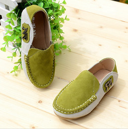 Wholesale Little Boys Moccasin Leather Shoes Kids Tods Children Genuine Leather Shoes High quality Footwear Spring Autumn Party Tods Cowhide Shoes