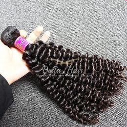 Bella Hair® Natural Black Brazilian Curly Hair Weave 4pcs lot Cheap 8A Brazilian Human Hair Curly Weave Free Shipping
