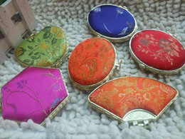 Wholesale Antique Mini Pocket Mirror Mirror flip sided mirror portable folding small gift