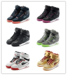 Wholesale 2016 Fashion Casual Shoes Women s Elevator Shoes Jogger Air Revolution Sky Hi Height Increasing Shoes Womens Sneakers Hidden Wedge Platform