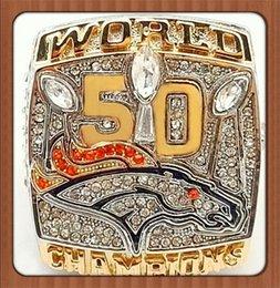 Wholesale Factory Direct Sale New Arrival For Miller Denver Broncos Super Bowl Zinc Alloy Replica Championship Rings