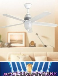 Wholesale Best selling ceiling fans lights European American style inch cm blade ABS fans remote control indoor led ceiling fans V V MYY