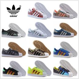 Wholesale Adidas Originals Superstar Supercolor colors Men Women Superstars Running Shoes Sneakers Classic Super Star Casual Shoes