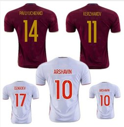 Wholesale 16 Russia jersey soccer jerseys home away shirt white maroon red team football shirts country best quality