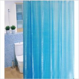 Wholesale 180 cm cm d new bath shade EVA water cube environmental materials waterproof mouldproof bath shower curtain Free shiping