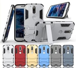 Wholesale Stand Holder Cell Phone Case Soft TPU Hard ABS Back Chrome Cover For Motorola Moto G4 Plus Moto G4