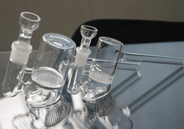 14mm 19mm 2 models Glass Bubbler Honeycomb Perc Glass Hammer Oil Rigs glass Bongs glass Water Pipes In stock