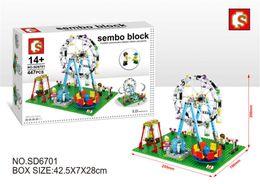 Wholesale SD6701 Classic Theme Park Childhood Memories Amusement Park Ferris Wheel Swing Bricks Building Blocks Toys Christmas Gift Blocks