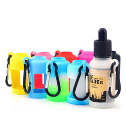 New Design Unicorn bottles with Silicon rubber case Sets E glass liquid Bottle , 30ml Colorful Glass dropper bottles with Protection Case