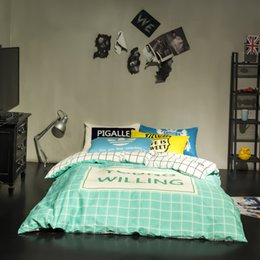Wholesale Hot Cool Crow Heart Print Bedding Set AB sided Bed Linens Bed Sheet Set Bedclothes Full Queen Size Bed Cover Set