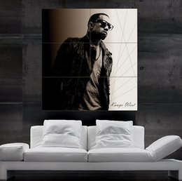 Kanye West Play Live Sepia Poster print wall art 6 parts giant huge Poster print art free shipping NO4-97