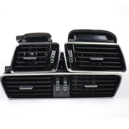 Wholesale Qty OEM Black Piano Paint Chrome Car Center Console Air Condition Vents For VW Passat B6 B7 CC R36 AD819701A A A