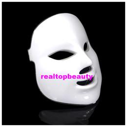 Meilleures lumières de led photo en Ligne-Le meilleur choix à la mode a mené le masque de thérapie léger rouge bleu vert 7 couleur a mené le masque cosmétique pdt photo la machine faciale