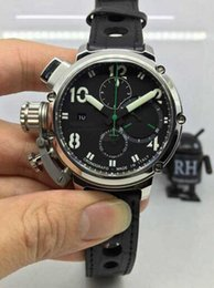 Wholesale NEWEST MM chimera U GREEN LINE limited edition CHRONOGRAPH AUTOMATIC chrono sapphire crystal men watch wristwatch dive italy navy